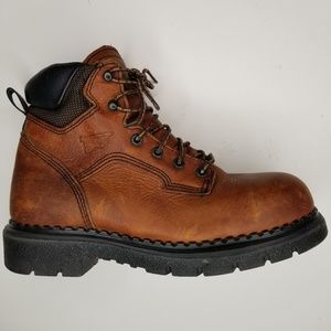 Red Wing Steel Toe Boots Made In USA 8.5 B New